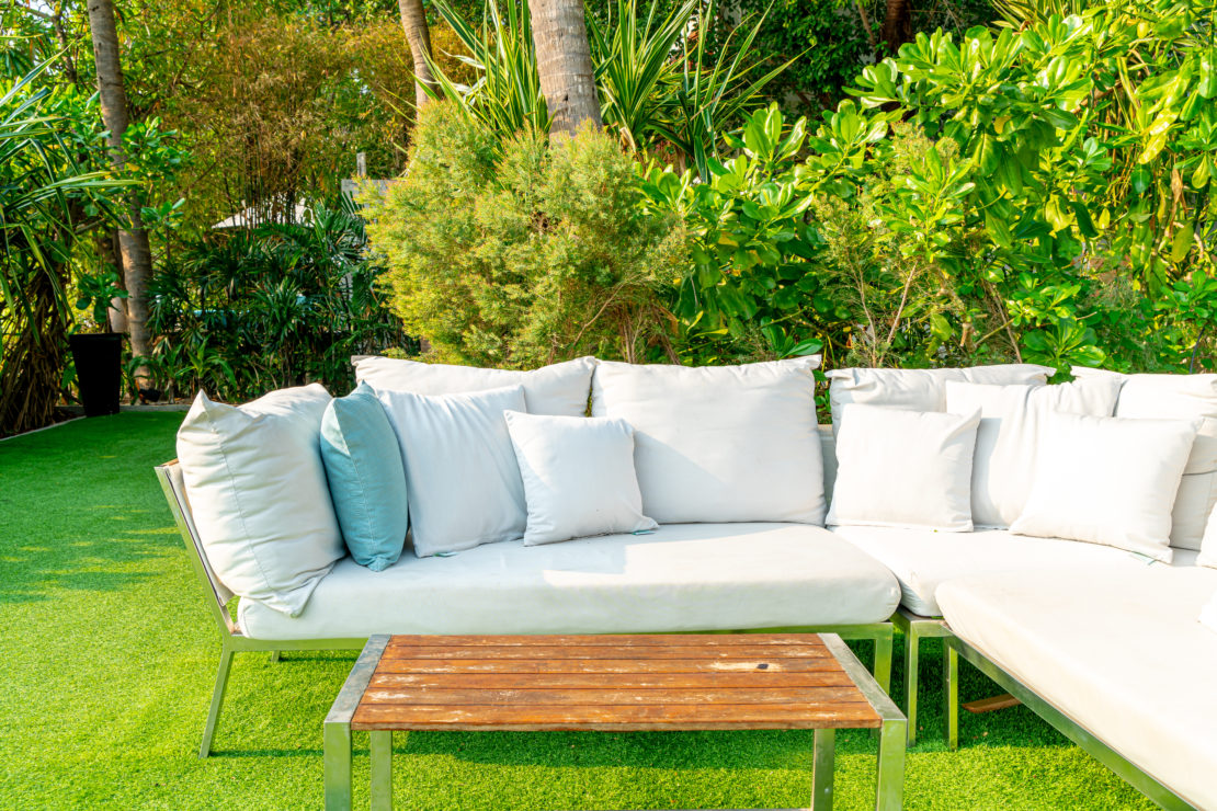 low-maintenance garden ideas for easy-care furniture