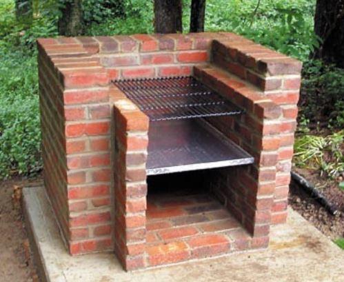 a DIY bbq made from bricks