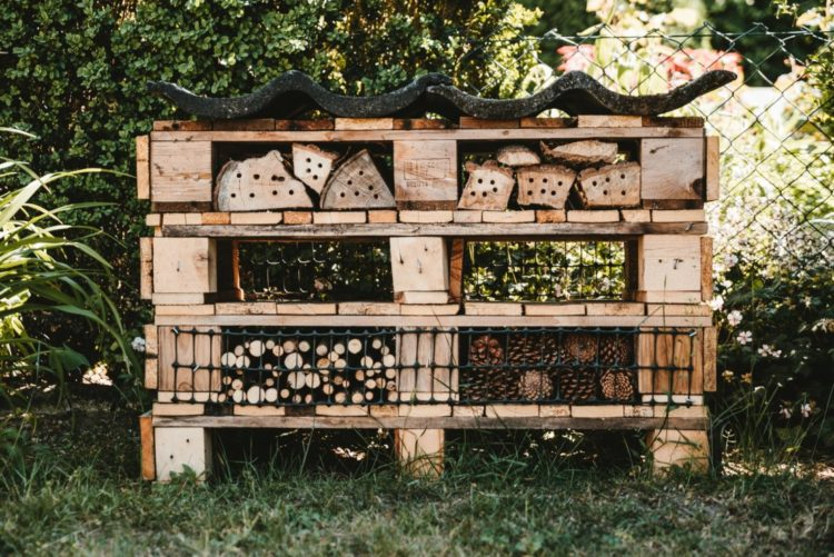 DIY bug hotel ideas made from reusing old pallets