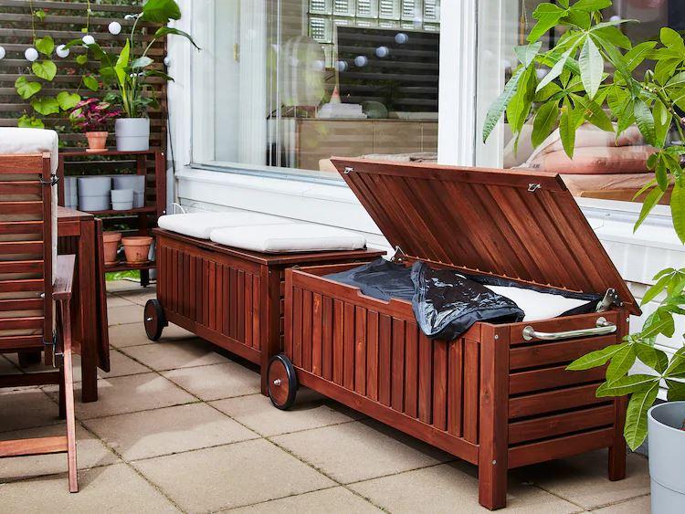 outdoor storage benchfrom IKEA