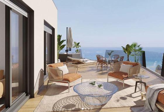 Spanish themed garden ideas - a sunny terrace in warm earth tones
