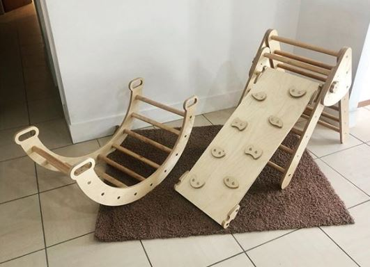wooden ramps as garden obstacle ideas for kids