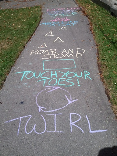 chalk garden obstacle course ideas for kids