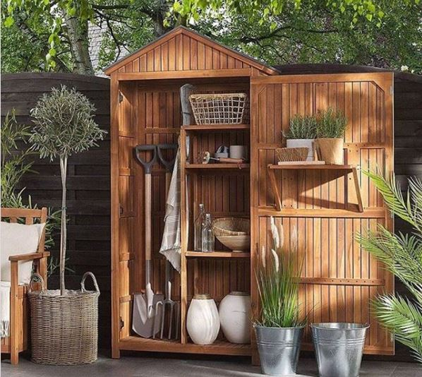 garden shed ideas a shallow shed filled with neatly organised tools