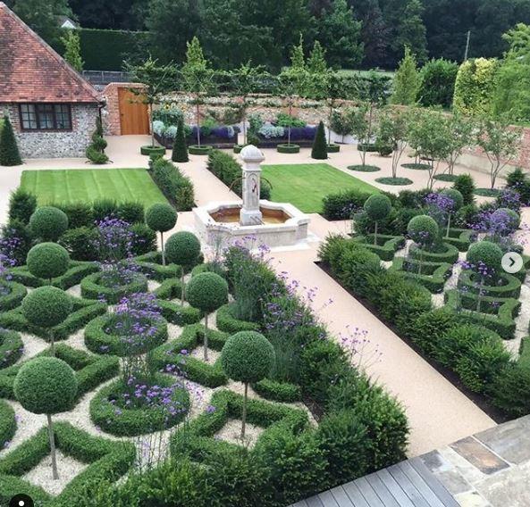 the walled garden, a parterre garden near Henley-on-Thames