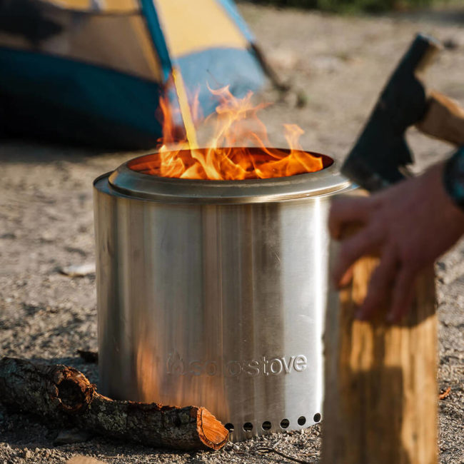 a portable fire pit and grill