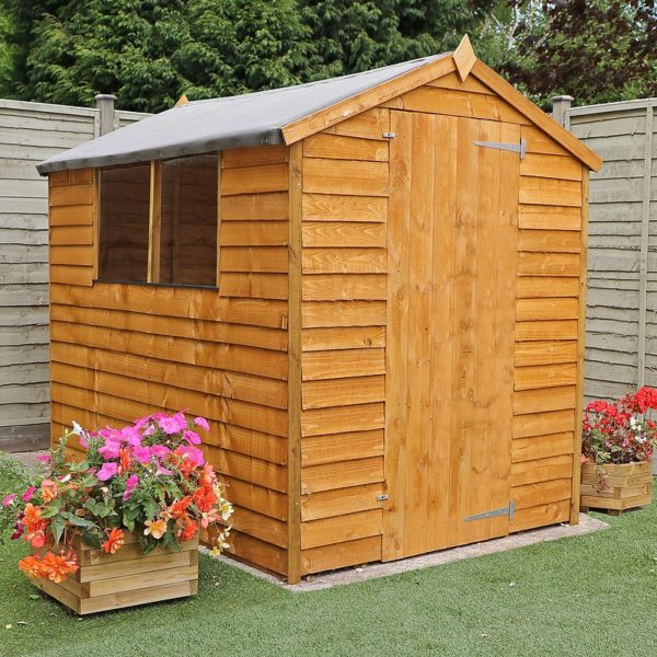 a standard brown shed