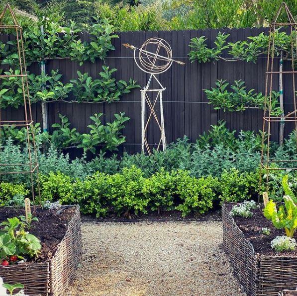 a leafy, cottage garden style kitchen garden