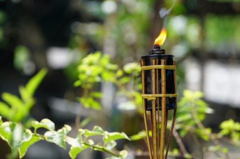 tiki garden ideas with an oil and bamboo tiki torch