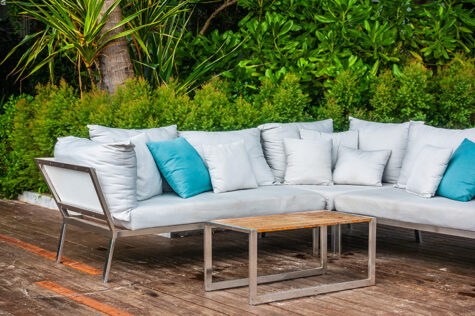 can garden furniture cushions be left outside