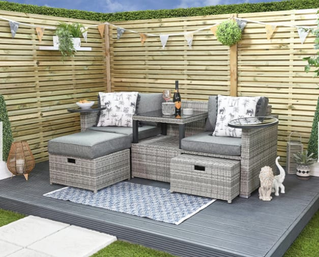 compact sofa sets for small patio