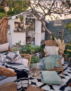 garden shed patio