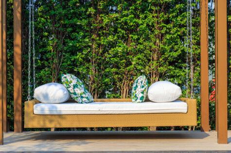 keep cushions on garden furniture