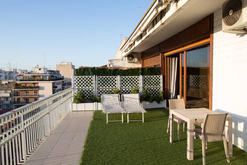 lightweight garden furniture on grass