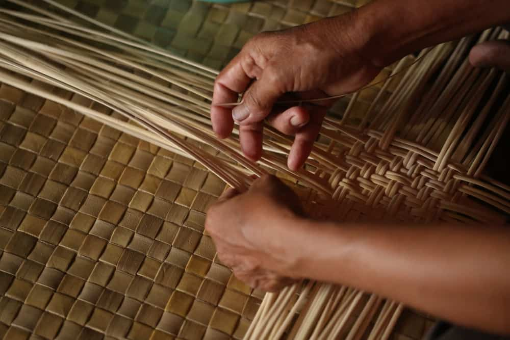 Processing raw rattan