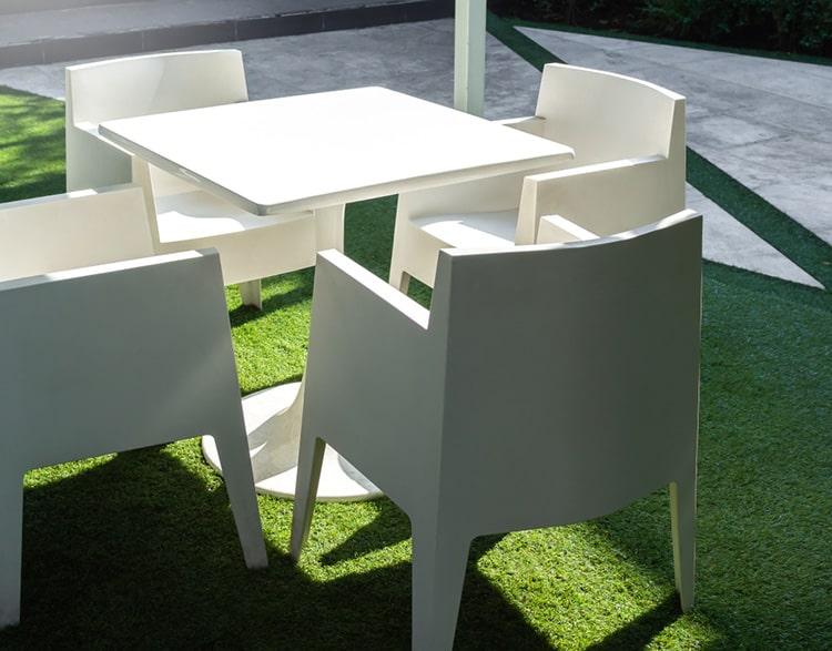 Resin garden furniture