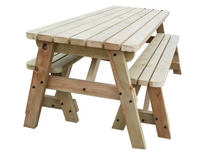 space saving picnic table for small patio