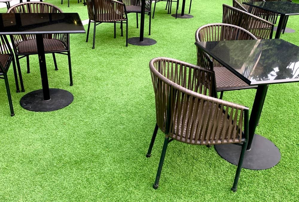 artifical grass garden furniture