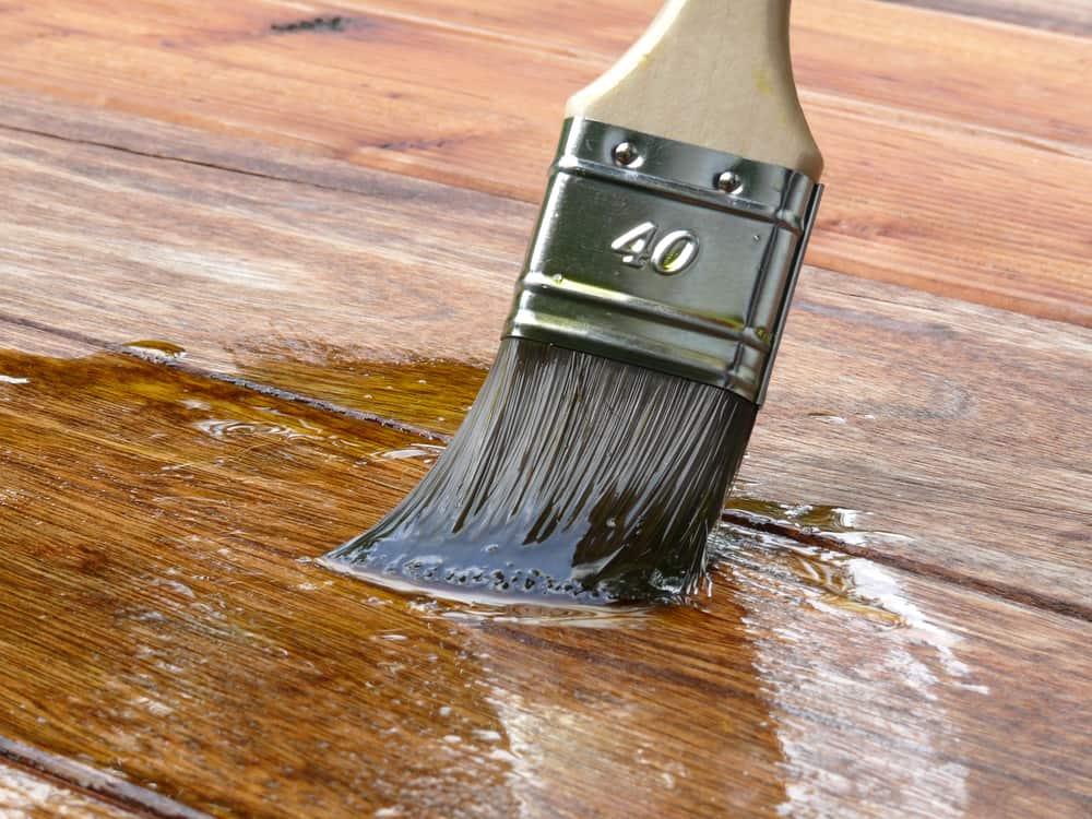 boiled linseed oil varnish paint on wood