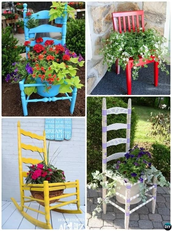 chair to flower pot