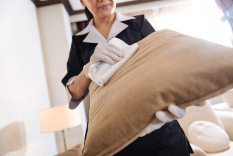 clean garden furniture cushions