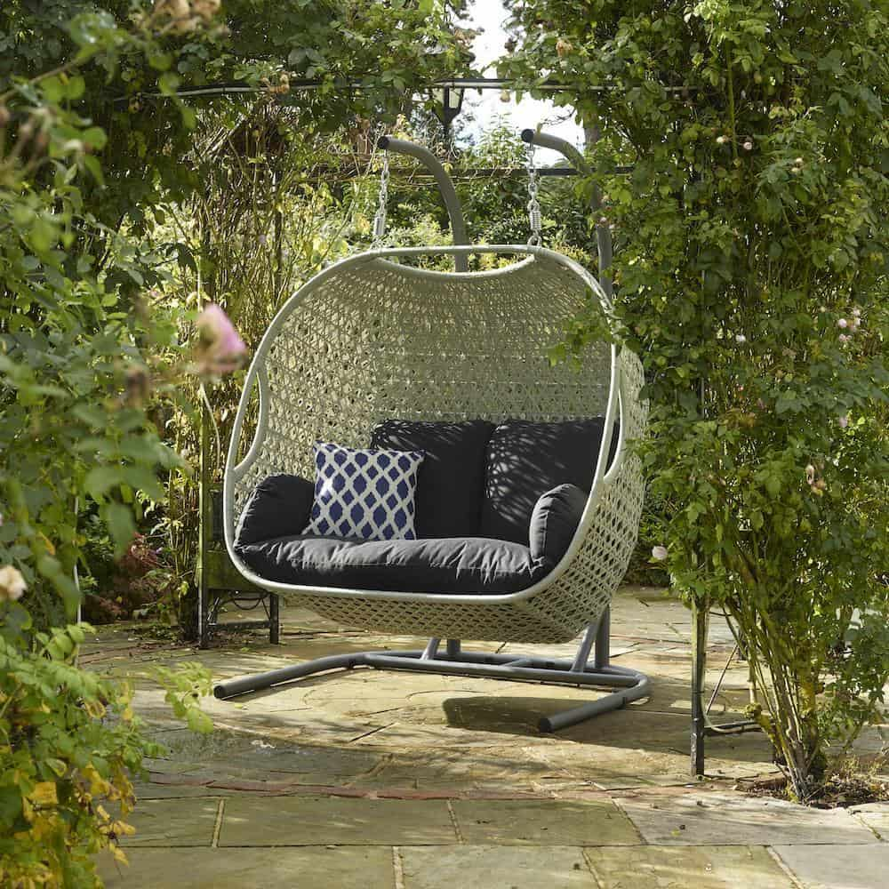 cocoon hanging chair fake wood