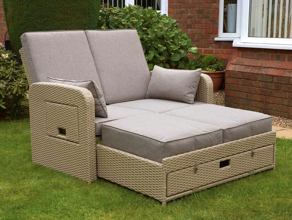 double garden sofa