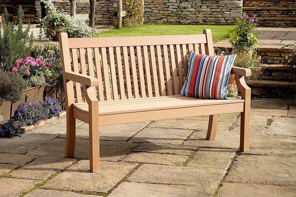 garden bench fake wood