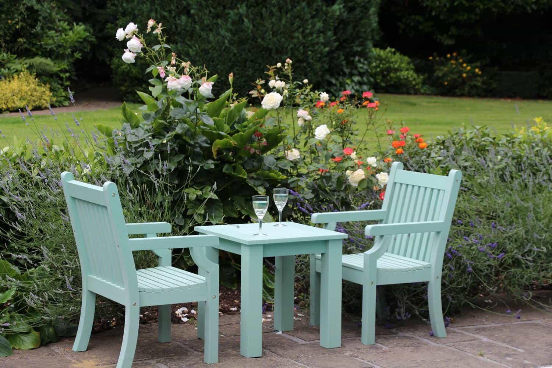 garden furniture tea set fake wood