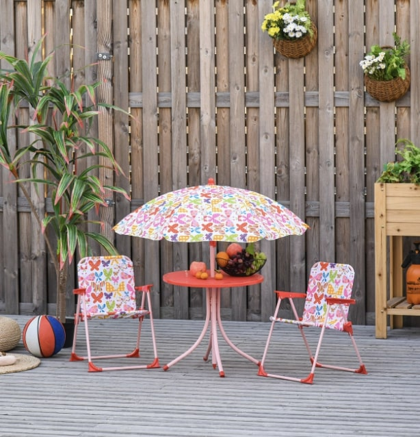 garden table and chair for kids