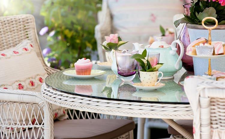 host wicker furniture garden party
