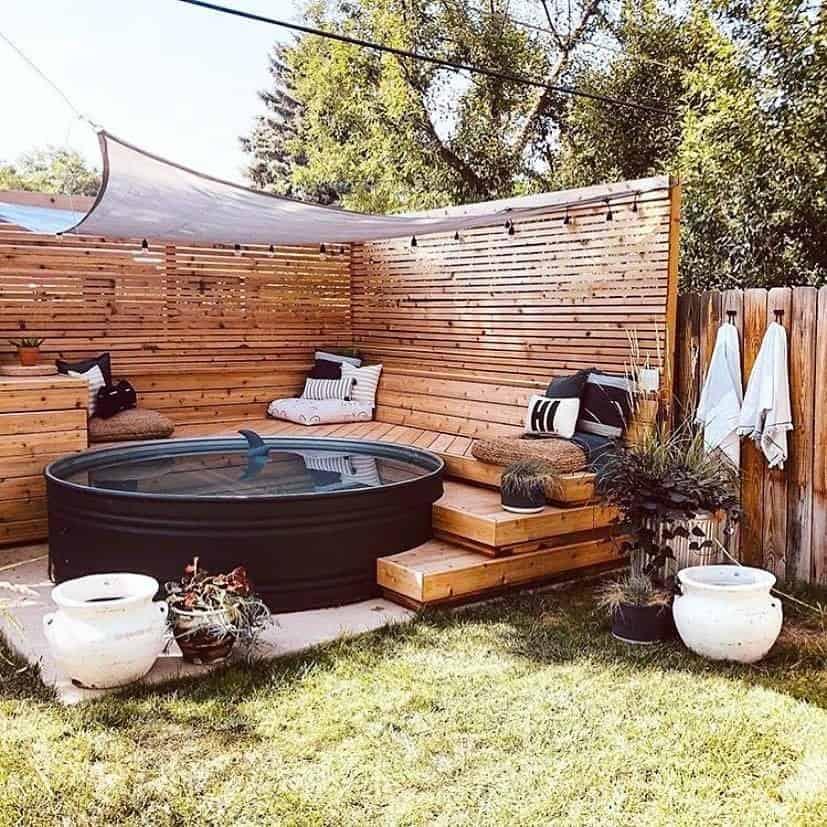 hot tub gazebo area