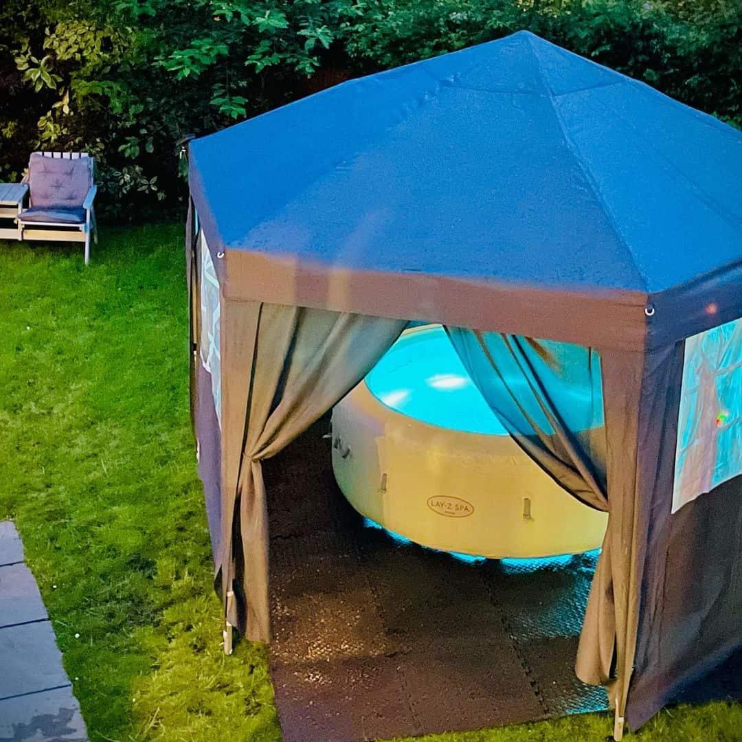 hot tub gazebo curtains