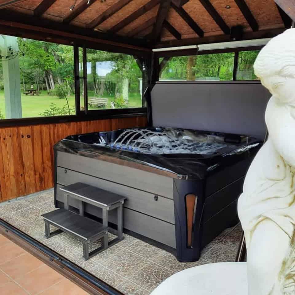 hot tub gazebo flooring