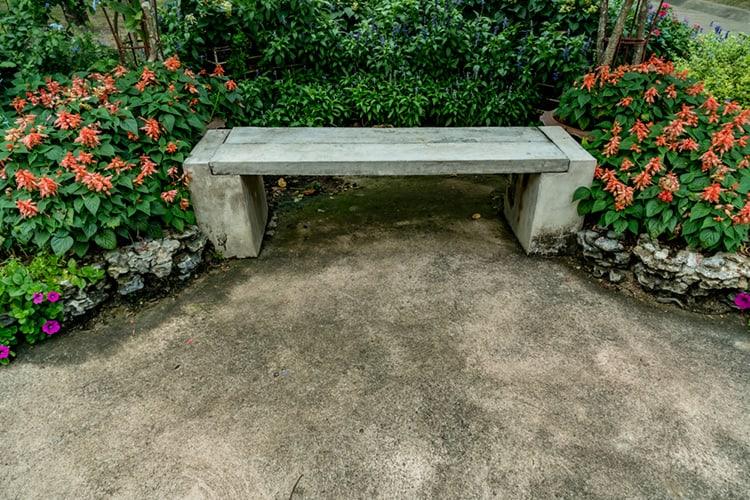 make concrete garden furniture