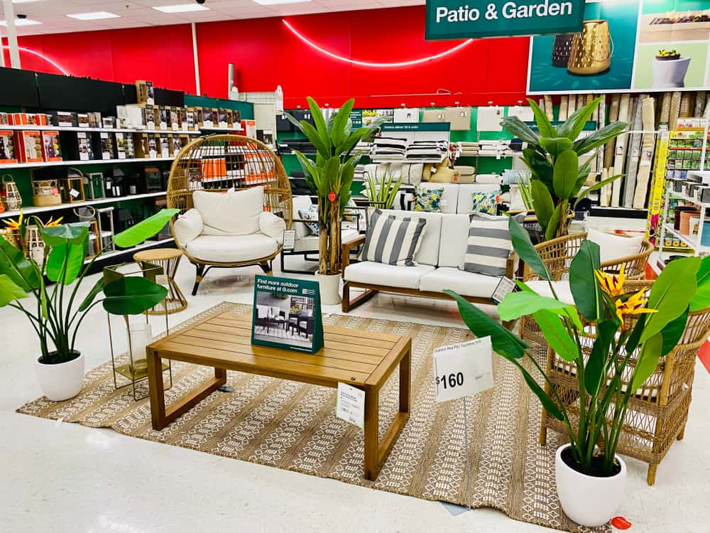 patio and garden furniture on sale editorial