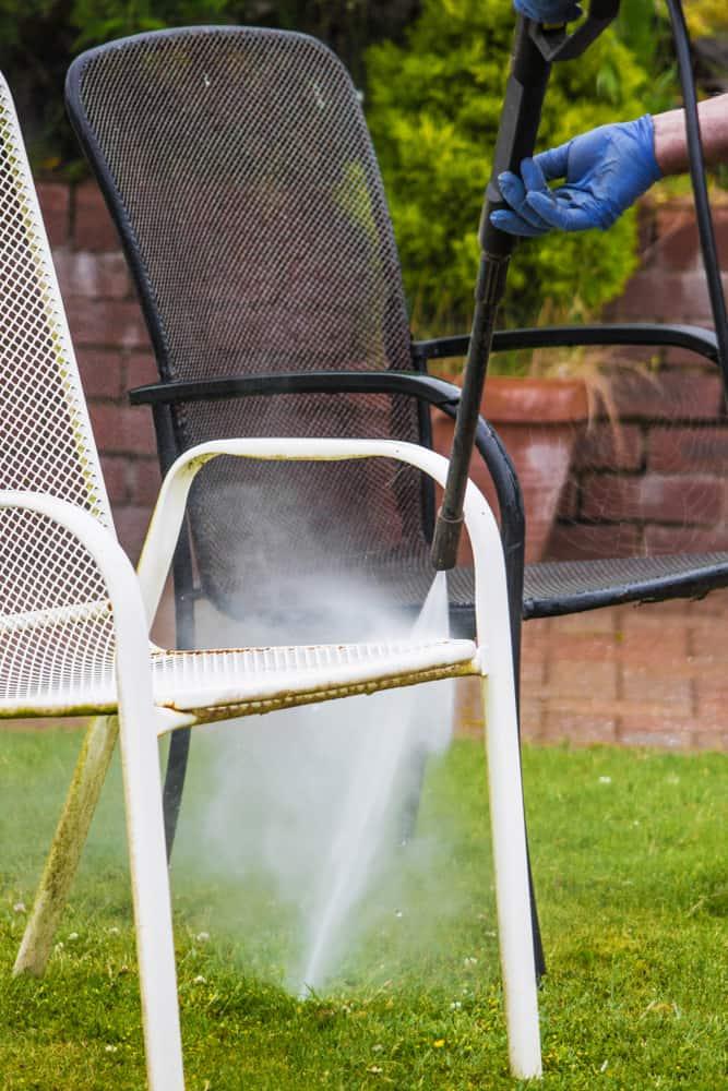 power washing garden furniture
