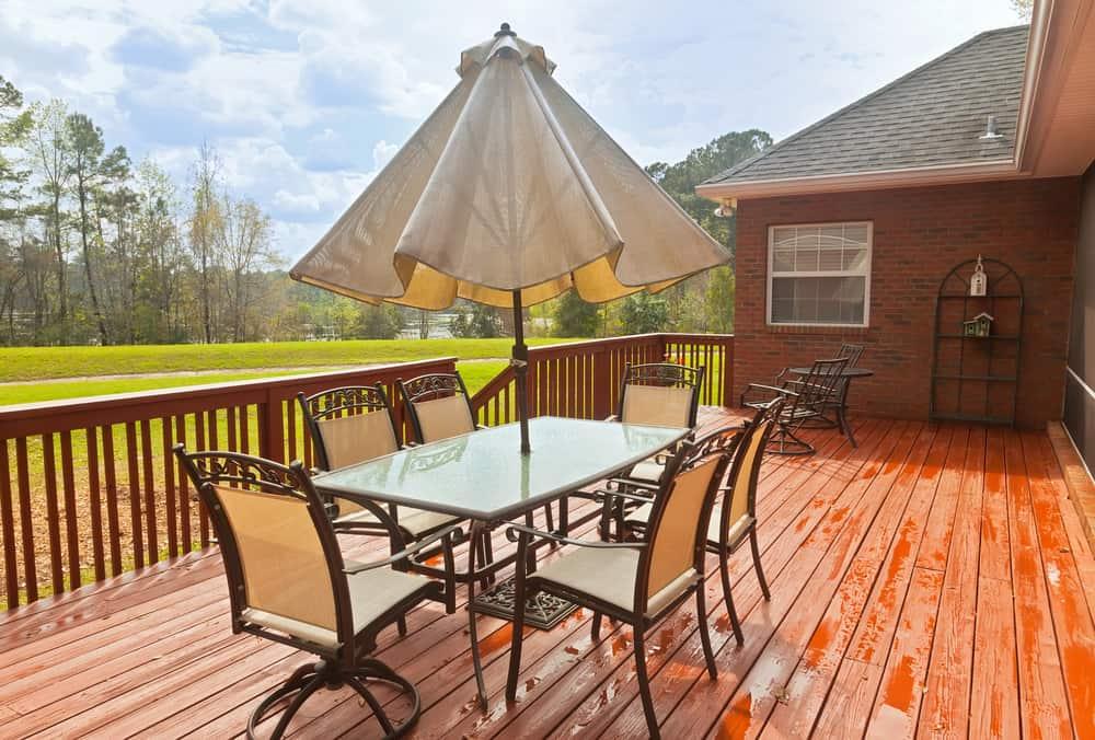 redwood patio