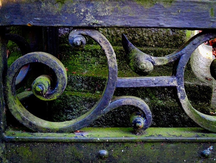 remove algae metal furniture