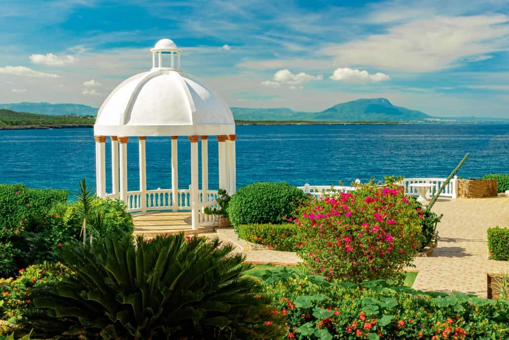 tropical white gazebo cupola