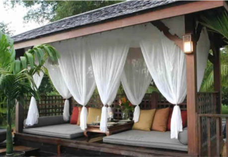 How to Hang Gazebo Curtains 2