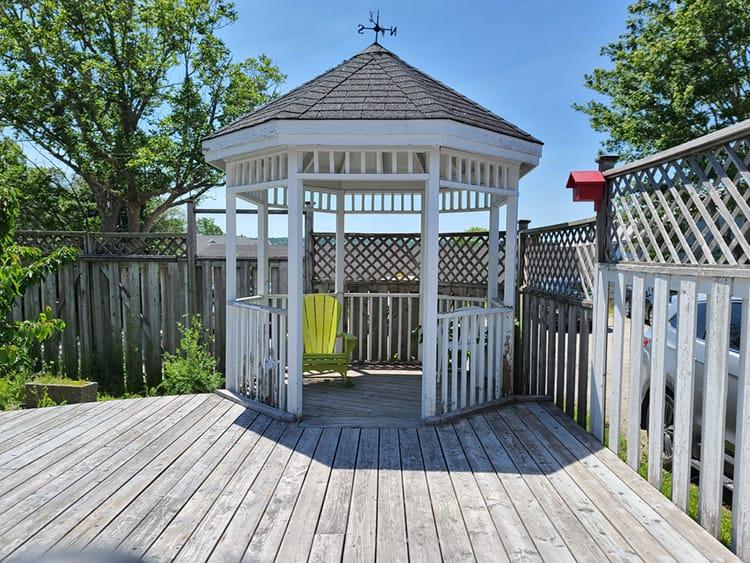 build a gazebo on a deck