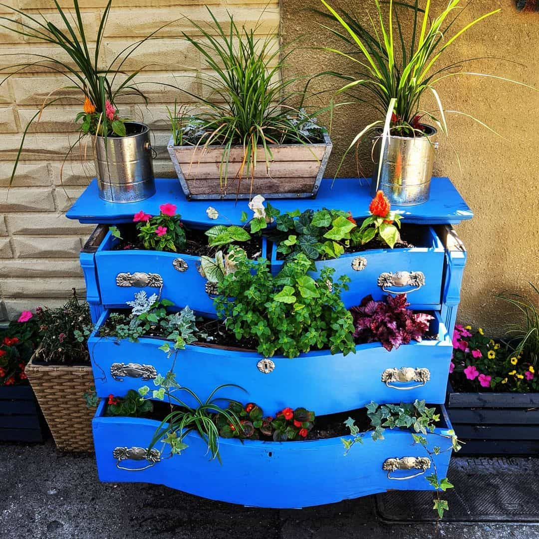 chest of drawers planter box