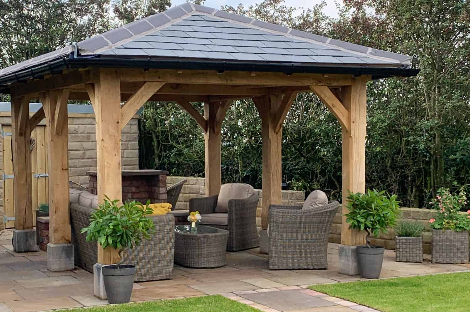 crafted wooden gazebo