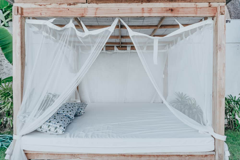how to attach mosquito net to gazebo