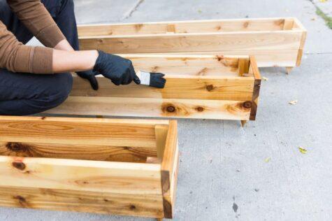 how to build a cedar planter box