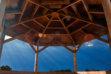 how to build a hexagon gazebo roof