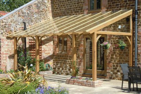 how to build a wooden gazebo attached to house