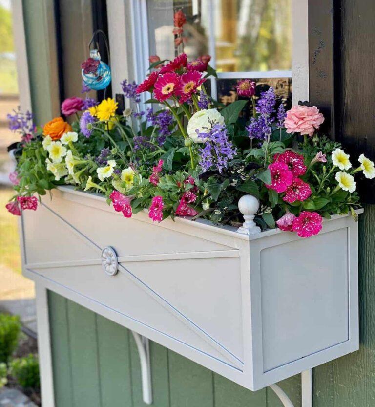metal flower box