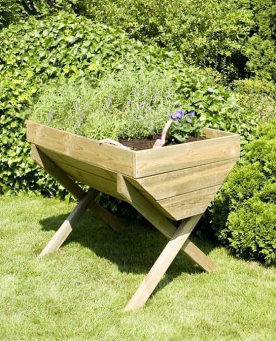 raised vegetable planter box